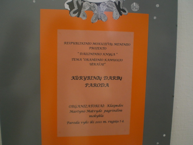 """PARODOS """"ORANŽINIO KAMUOLIO UŽRAŠAI"""" ATIDARYMAS"""